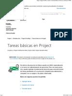 Tareas Básicas en Project - Project