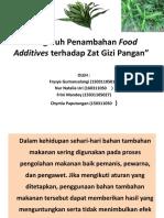 Pengaruh Penambahan Food Additives Terhadap Zat Gizi