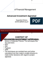 Advanced Investment Appraisal