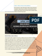 Current Affairs for IAS Exam (UPSC Civil Services) | Make in india – defence  review of key initiatives | Best Online IAS Coaching by Prepze