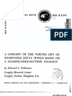 A Concept of the Vortex Lift of Sharp-edge Delta Wings Based on a Leading-edge-suction Analogy