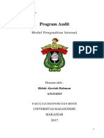 Modul 4 - PROGRAM AUDIT Audit Internal