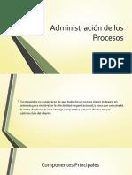 Administración de Los Procesos