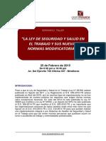 Presentacion de La Ley de Seguridad y Salud en El Trabajo y Sus Nuevas Normas Modificatorias