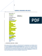 Programa Quimica Organica 2015