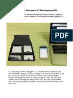 A Fully Modular & Enterprise IoT Development Kit