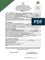 Formulario 1. Inscripción Matrícula
