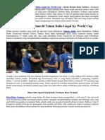 Pertama Kali Dalam 60 Tahun Italia Gagal Ke World Cup
