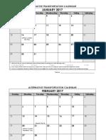 2017 TRP Plan Calendars
