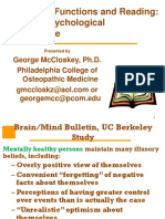 EF and Reading - McCloskey