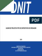 Álbum de Projetos-tipo de Dispositivos de Drenagem - IPR - Dnit