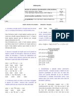 2008 - 6 Roteiro de Estudos de Analitica I - Gabarito