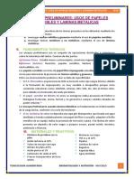 ENSAYOS PRELIMINARES