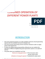 combined operation of different power plants