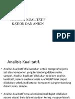 2. Analisis Kualitatif Ion Anorganik (Kation Dan Anion)