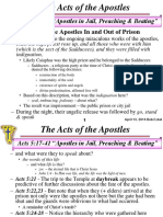 Acts 15 17 41 Apostles in Jail Preaching Beating