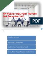 Weekly Status Report 02-Dec-15
