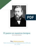 El Ministro en Nuestros Tiempos Charles Spurgeon
