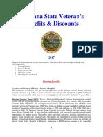 Vet State Benefits & Discounts - MT 2017