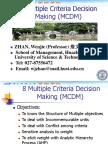 Multiple Criteria Decision Making