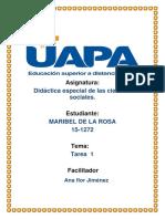 Didactica Especial de La Ciencias Sociales 1