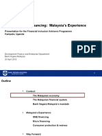 20100423 - SME & Micro Financing Malaysia's Experience