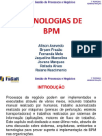 Apresentação - Tecnologias de BPM