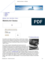 História Do Cinema - InfoEscola