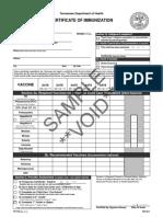 tn immunization certificate sample pdf