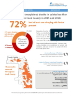 Infant Deaths in Cook County 2015 and 2016 Data Brief