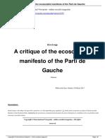 A Critique of the Ecosocialist Manifesto