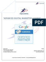 Digital Marketing Syllabus --DigiQuest