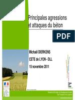 1.Principales Agressions Et Attaques Du Beton - Dierkens