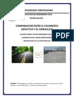 Investigacion de Comparacion de Pavimentos
