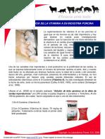 Importancia de La Vitamina a en Indutrias Porcinas