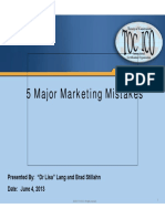 Lang, Lisa Stillahn 5 Marketing Mistakes TOCICO 2013 Lang Stillahn (FINAL2)