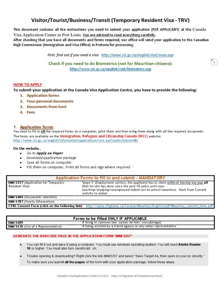 Visitor Visa Notary Public Travel Visa