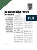 Do Bonus Shares Reward Investor