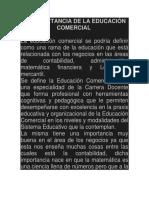 La Importancia de La Educación Comercial