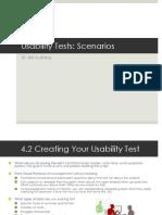 Testing and Scenarios