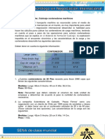Evidencia 2. Taller, Cubicaje Contenedores Maritimos