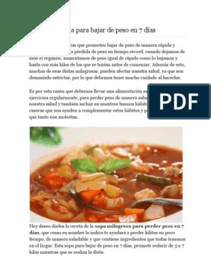 como se prepara la sopa milagrosa para adelgazar