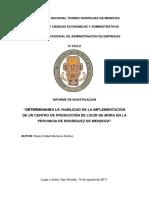 Proyecto Licor de Mora