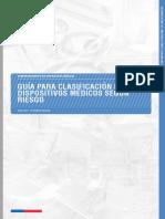 Guía de Clasificación de Dispositivos Médicos Según Riesgo, Formato Institucional