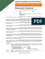 Resolucion Comite de Evaluacion Curricular-cas
