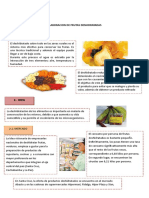 Elaboracion de Frutas Desidratadas