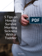 5 Tips on Surviving Morning Sickness With a Toddler