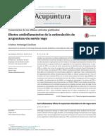 Efectos Antiinflamatorios de La Estimulaci n de Acupuntura v a Nervio Vago 2017 Revista Internacional de Acupuntura
