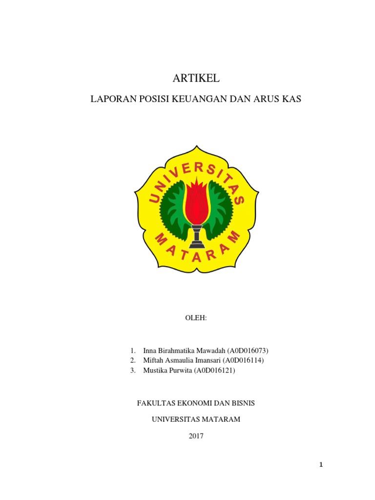 Laporan Posisi Keuangan Dan Arus Kas