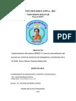 PROYECTO CONTROL DE ASISTENCIA código QRDAT 3.1 WINDOWS